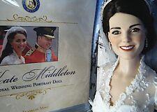 Franklin Mint KATE MIDDLETON ROYAL WEDDING PORTRAIT DOLL COA NIB