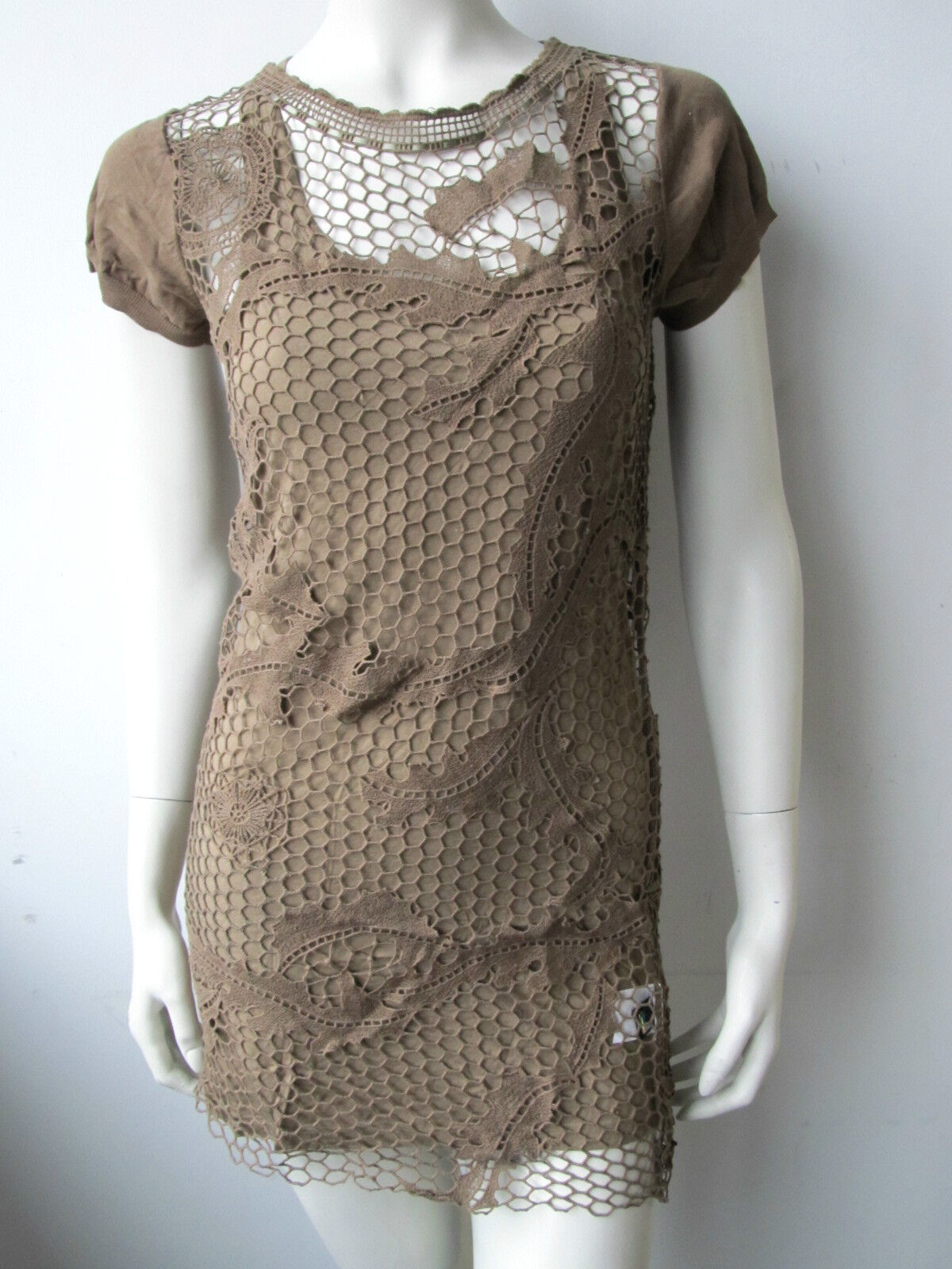 Cnc Costume National vestido kleed  dress Jurk top túnica nueva XS M  muchas sorpresas