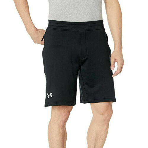 Under Armour UA Mens Black Tech Terry Gym Sports Training Shorts