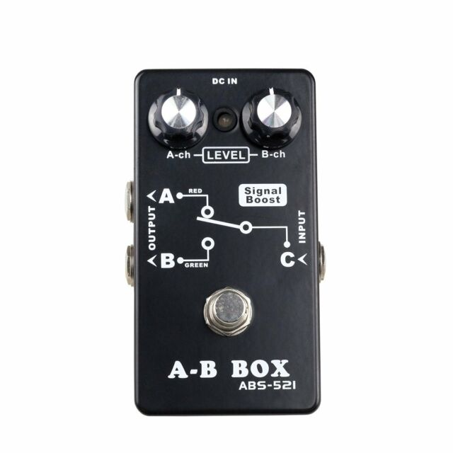NEW Crossfire AB Switch Box 1 Input-2 Output for Electric Guitar Effects Pedals