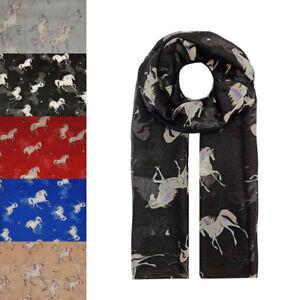 Unicorn Animal Print Large Scarf Shawl Wrap UK SELLER