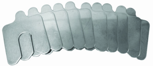 ".125/"" Slotted Shim 10-pack B-3/"" x 3/"" x 13//16/"""