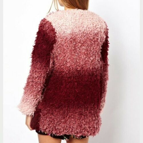 Shaggy maat Minkpink Pass Backstage 100 £ Roze Rrp Ombre jas Paars S xqFXqwTS