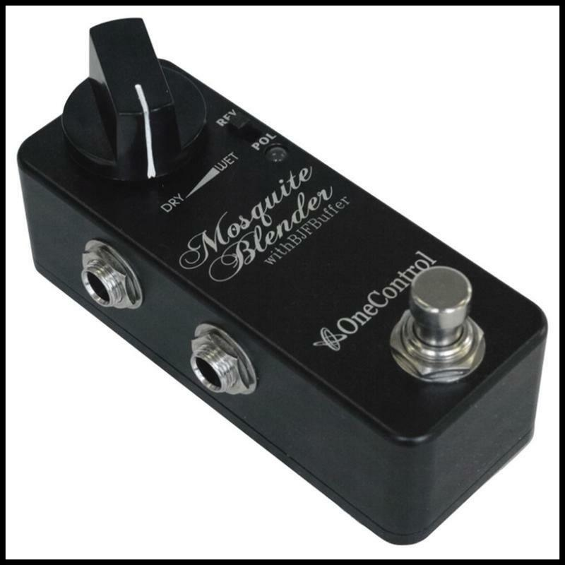 One Control Minimal Series Mosquite Wet/Dry Blender Guitar Pedal with BJF Buffer