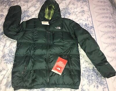 f9341b788 NWT North Face Boys Reversible Moondoggy Green Coat 550 Youth XL 18/20 |  eBay
