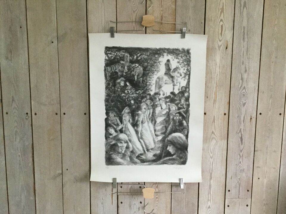 Kunsttryk, Ib Spang Olsen (1921-2012), b: 55 h: 72