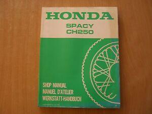 Werkstatthandbuch-Honda-CH-250-Spacy-ab-1985-shop-manual-Manuel-d-atellier