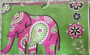 Vera-Bradley-Retired-Cancer-Pattern-Pink-Elephants-Limited-Edition-Silk-Scarf