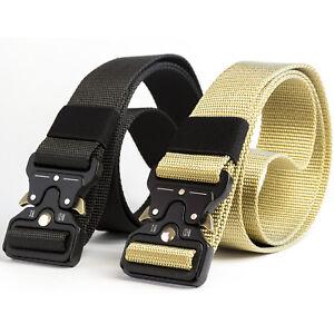 Cintura-Uomo-Tattica-Militare-Fibbia-Aggangio-Rapido-in-Metallo-Cobra-Nera-Beige