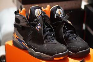 b6f9736573e0 Nike Air Jordan VIII Retro 8s Phoenix Suns Black Citrus Size 8.5