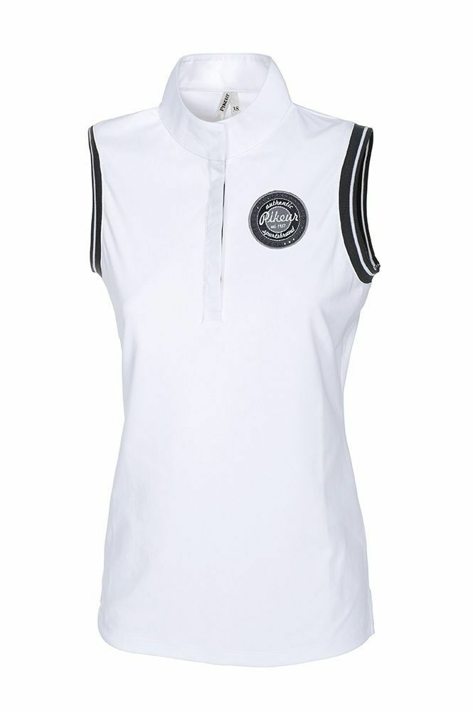 NEW  Pikeur Spring   Summer Gini Sleeveless Show Shirt White sizes 8 - 16