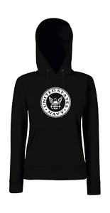 Us United States Navy Logo i Digreenente Detto Girlie Felpa con Cappuccio