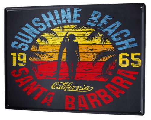 Cartello Targa in Metallo XXL Giramondo  California Beach