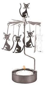 Pluto-Produkter-Rotierender-Teelichthalter-Teelicht-Katze-Metall