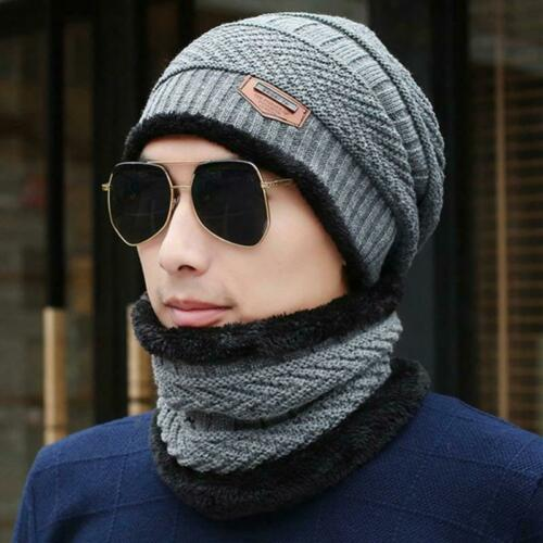 Details about  /2PCS Winter Hat Scarf Set Outdoor Sport Hiking Camping Thermal Solid Warm Fleece