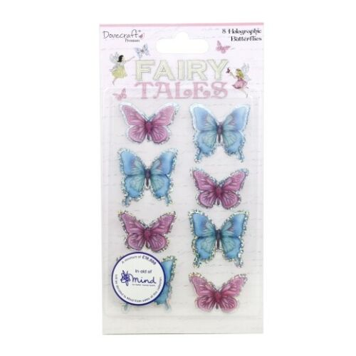 Holographic Butterfly Toppers cards /& crafts Fairy Tales Dovecraft Premium