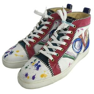 308a42b8803 Details about CHRISTIAN LOUBOUTIN LOUIS ORLATO FLAT CLF LOVE High-top  sneakers multi-col (8059