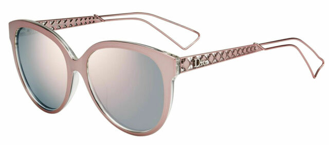 c805f466d039 New Dior Diorama 1 S TGW 0J Pink Crystal Metal Sunglasses Rose Gold Mirror  Lens