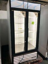 True 2 Door Cooler White With Black Frame