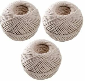 Set-of-3-Cotton-Twine-Household-Home-Office-Ball-String-Rope-Shabby-Decor-Craft