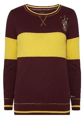 HARRY POTTER Ladies GRYFFINDOR QUIDDITCH Thin Jumper Sweater Primark Womens