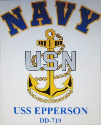 USS ERBEN DD-631* DESTROYERS U.S NAVY W// ANCHOR* SHIRT