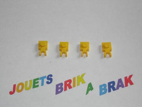 Lego briques brick plate de 1x1 modifié avec pince clip choose color ref 4085 c