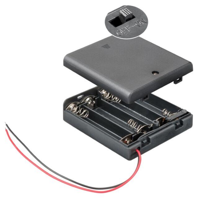 Akku-Halter für 2x Lady N; mit Lötanschluss Batteriefach Batteriehalter
