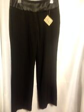 "Adolfo Women Black Polyester Pant Suit Size 10 Inseam 32"" Waist 30"""
