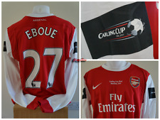 Nike Emmanuel Eboue Arsenal Carling Cup Final Issued Shirt Not Match Worn