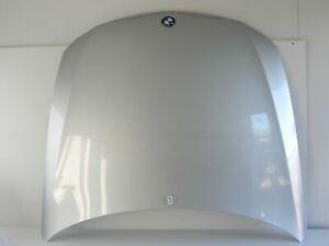 2006-BMW-328I-E90-HOOD-BONNET-PANEL-COVER-SILVER-W-EMBLEM-FRONT-OEM-488-7-A
