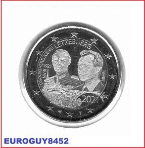LUXEMBURG - 2 € COM. 2021 UNC - 100e VERJ. GEBOORTE GROOTHERTOG JEAN - FOTO