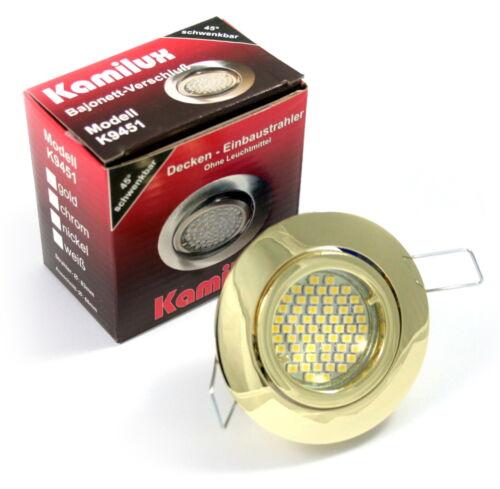 3W = 25Watt LED Deckenstrahler Bajo /& SMD LED Einbaustrahler 12V Niedervolt
