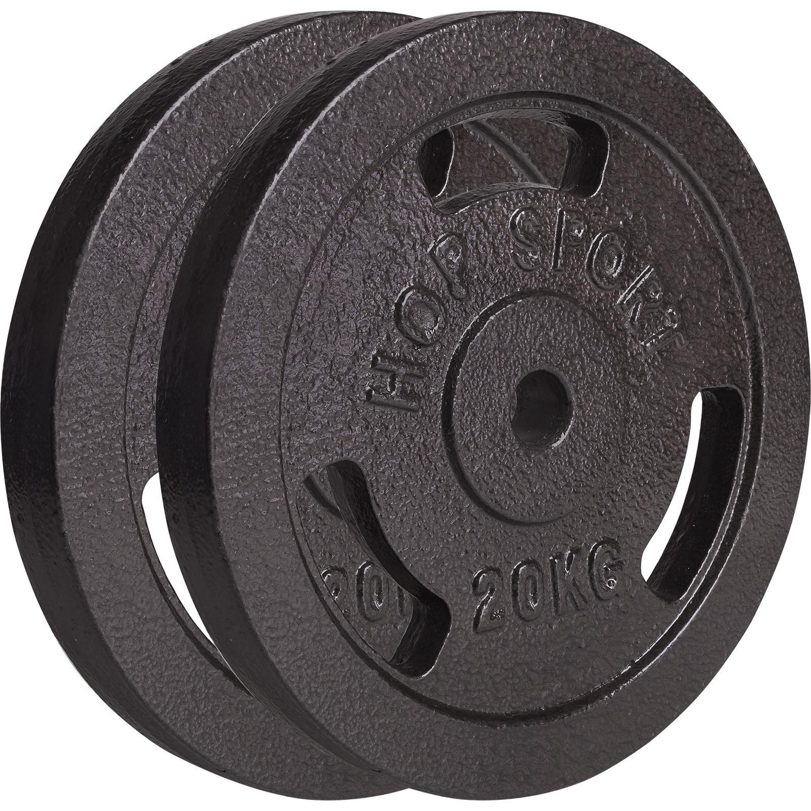 DISQUES HALTÈRES FONTE 40 kg 2x20 kg 30 mm  Fitness Musculation bras HALTÈROPHIL