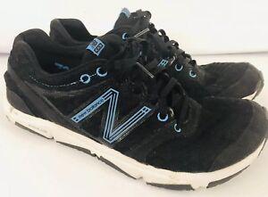 NEW-BALANCE-MINIMUS-730-BLACK-amp-BLUE-SHOES-MENS-SZ-8-LADIES-10-BAREFOOT-RUNNING