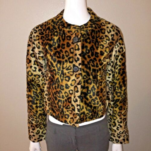 West Animal Leopard Størrelse Bolero S Ni Faux Cropped Small Fur Jacket an1qadSf