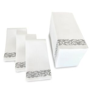 Magnificent Details About 50 Disposable Linen Feel Hand Towels Decorative Bathroom Napkins Paper Towels Download Free Architecture Designs Viewormadebymaigaardcom