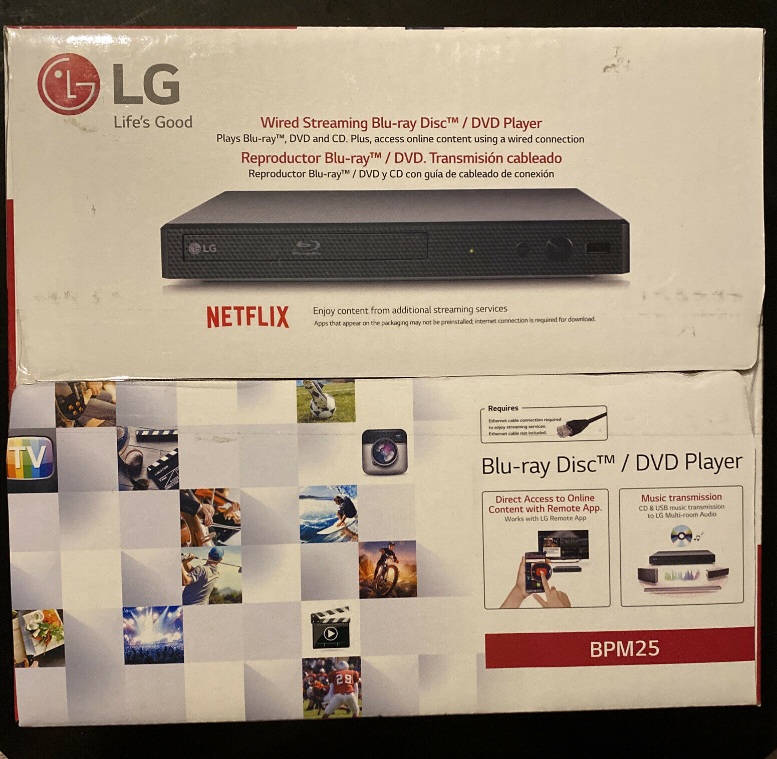 LG Blu-ray Player with Streaming Services - BPM25 player services streaming with