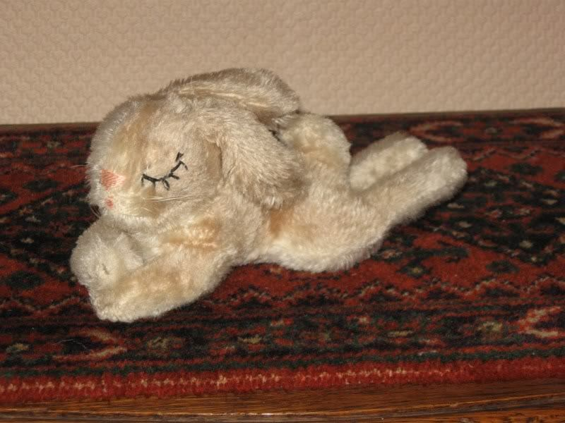 Hermann Germany Sleeping Mohair Rabbit