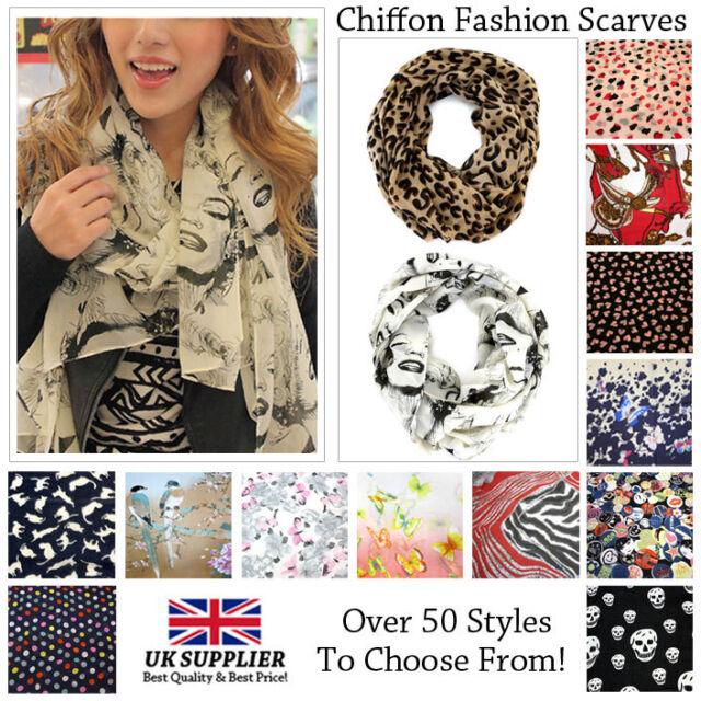 Quality Women's Fashion Chiffon Silk Scarves (Trusted UK supplier)