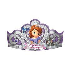 8 Disney Sofia the First Purple Birthday Party Princess Paper Tiaras