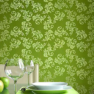 Details About Alessa Scroll Allover Wall Stencil Stencil Pattern For Diy Home Decor Crafts