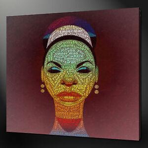 NINA SIMONE SINNERMAN TYPOGRAPHY WALL ART PICTURE CANVAS PRINT READY TO HANG