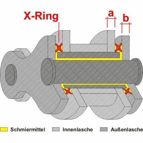 SC44 00-01 NIET Kettenkit DID X-Ring ZVM-X Honda CBR 900 RR Fireblade