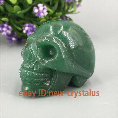 Details about  /Natural aventurine Carved Golden quartz crystal bat skull reiki Healing 1pc