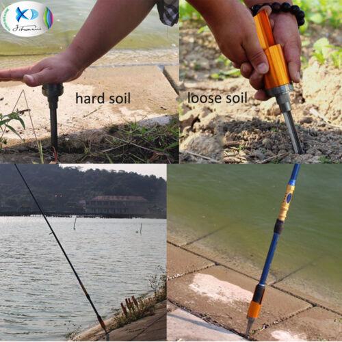 Fishing Rod Pole Holder Aluminium Alloy Ground Support Stand Rack Folding Holder