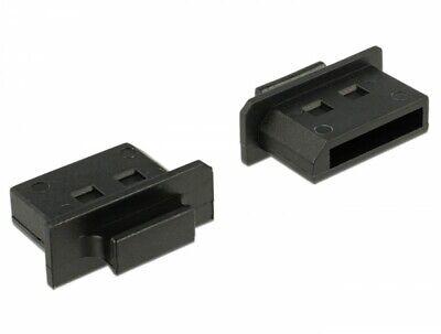 10 Stück Delock Schutz vor Staub für DisplayPort Buchse mit Griff schwarz