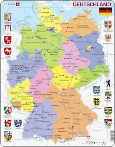 Larsen Puzzle Deutschlandkarte Politische Karte 48 Tlg Ebay