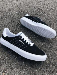 ADIDAS 3MC SKATE SHOES BLACK/WHITE