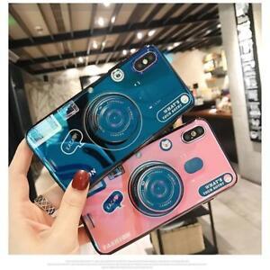 new style 673da fbc57 Retro Camera Shape Airbag Stand Mobile Phone Case Protective Cover ...